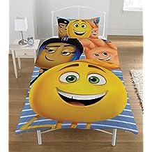 Emoji edredón conjunto, multicolor, cama individual