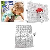 10x A4 DIY Color Blanco Sublimación Imprimible Jigsaw Puzzle para Máquina De Prensa De Calor Sublimación Imprimible Jigsaw Puzzle para