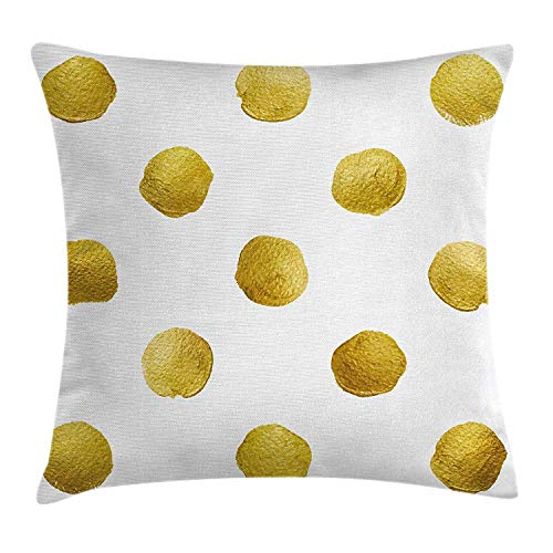 FPDecor Abstract Funda de Almohada, Artistic Print of Paint B Strokes Forming Big Spots with Ombre Effects...