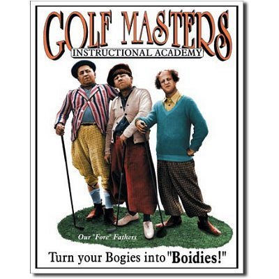 Three Stooges Golf Masters Retro Vintage Tin Sign by Poster Revolution