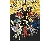 JRDZSH 5D Fai da Te Diamante Pittura Punto Croce Diamante Ricamo Anime Naruto Foto Il Quadrato Trapano Adesivo Muro 100X150 Cm