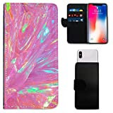 i-Tronixs Leagoo M9 Pro PINK SPARKLING COLOR MARBLE WALLET