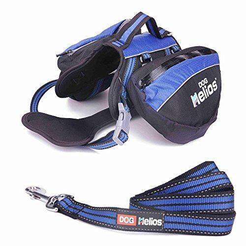 Helios 3-in-1 Wasserdicht Explorer Cabrio Rucksack, Hunde Reflektierende Geschirr mit abnehmbare Satteltaschen für Reisen Wandern Camping
