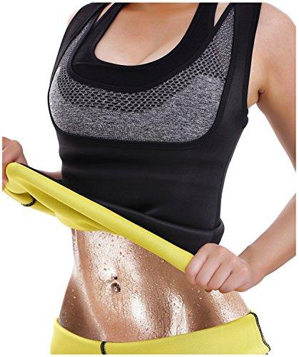 Hot Thermo Schweiß Neopren Shapers Slimming Gürtel Taillenmieder Girdle für Gewicht Loss (Medium, Schwarz)
