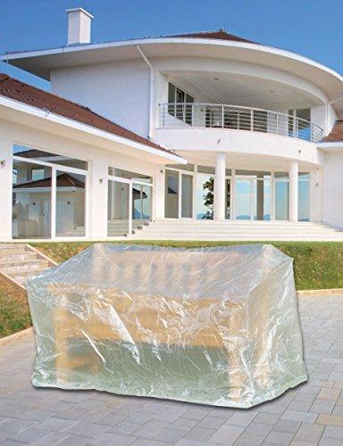 Schutzhülle für 3-Sitzer Gartenbank 160x75x78cm transparent