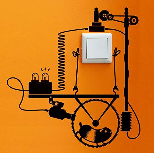 Qliyt Hamster Generator Kunst Schalter Aufkleber Wohnzimmer Schlafzimmer Dekorative Wandaufkleber Vinyl Wasserdichte Wandbilder 38X40 Cm (Generator-schalter)