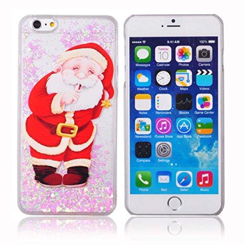 Voguecase® für Apple iPhone 6 Plus / 6s Plus (5,5 Zoll) , Flüssig Fließen (Harte Rückseite) Hybrid Hülle Schutzhülle Case Cover (Weinglas) + Gratis Universal Eingabestift Weihnachtsmann