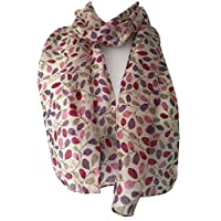 Purple Possum® Floral Silk Scarf Ladies 100% Silk Purple Possum® Pink Flowers Flower Print
