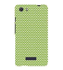 Green Chevron 3D Hard Polycarbonate Designer Back Case Cover for MIcromax Canvas Unite 3 Q372