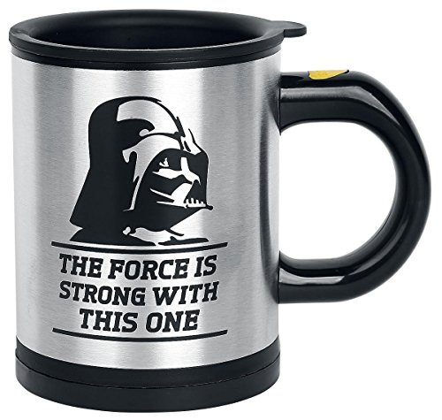 Star Wars Kaffee (Star Wars Feel the Force Mug Darth Vader Drinking Bottle Die selbstrührende Tasse / Lazy Mug - Self Stirring Coffee Cup Becher Electric Stainless Steel Automatic Mixing Spinning Star Mor (B))