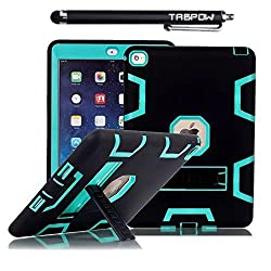 iPad Mini Case, iPad Mini 2 Case, TabPow [Triple Layer][Shockproof][Kickstand][Heavy Duty] Hybrid Rugged Drop Proof Defender Case Cover with Stand For iPad Mini and iPad Mini 2 with Retina,
