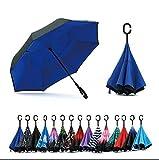 Jooayou Paraguas Invertido de Doble Capa,Paraguas Plegable...