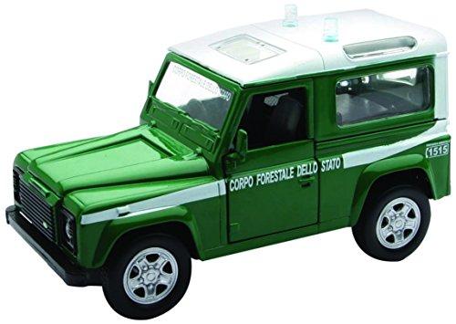 Newray 56063 - forze dell' ordine land rover defender corpo forestale dello stato, scala 1:32, die cast