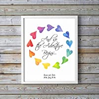 Lesbian Wedding Gifts - Gay Marriage Gifts - And so the Adventure Begins - Custom Wedding Print