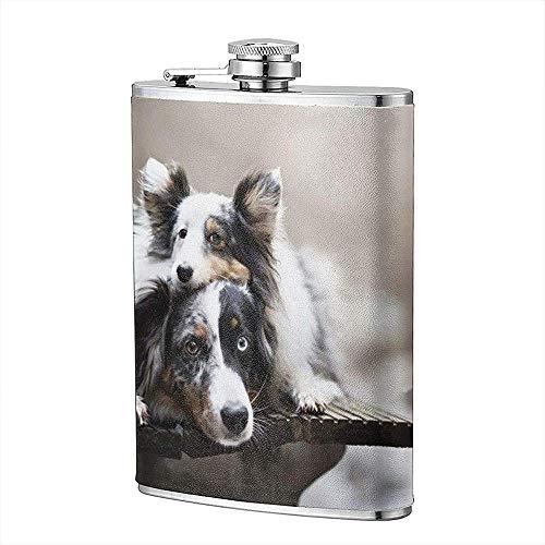 Tiere Hund Flachmann Tasche Flasche Flagon 8 Unzen Portable Edelstahl Flagon Camping -