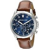 Michael Kors MK8362 - Reloj con correa de acero para hombre, color azul / gris
