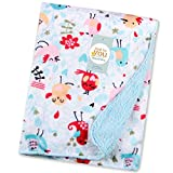 #5: Baby Bucket Double Layer Velvet Fleece Newborn Printed Baby Blanket (VEL BIRDS)