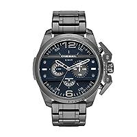 Diesel Advanced - Reloj análogico de cuarzo con correa de acero inoxidable para hombre, color gris/azul de DIFYX