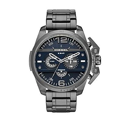 Diesel NSBB - Reloj de cuarzo con correa de plástico unisex, color gris / blanco
