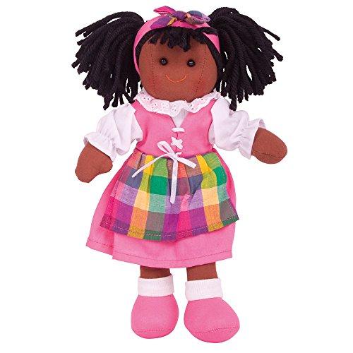 Bigjigs Toys 27,9cm Jess Puppe–Soft Body Plüsch Spielzeug Puppe mit Haar und Outfit