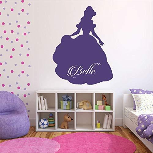 Wandtattoo Schlafzimmer Schöne und das Biest Vinyl Aufkleber Prinzessin Belle Schöne und das Biest unter dem Motto Cartoon Mädchen Zimmer Kunst Wandbild Diy Kids Nursery Sticker -
