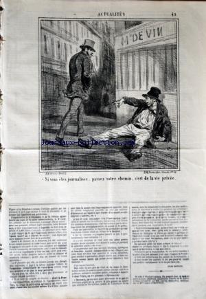 CHARIVARI (LE) du 23/03/1868 - LA SEMAINE DE LA BOURSE -