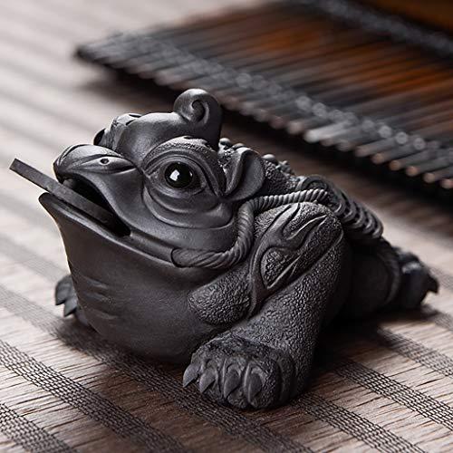 Der Geschmack von zu Hause Zisha Tee Haustier Gold Tee-Set Tee Spiel Tee Tisch pur, fein Glück Tee Zeremonie Dekorationen (Farbe : C) Gold Pur Tee