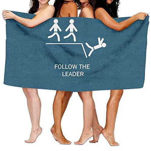 "Ewtretr Strandtücher Ultimate Best Luxury Oversized Beach Pool Towel Follow The Leader 31.5\""X51\"" Soft Lightweight Absorbent for Bath Swimming Pool Yoga Pilates Picnic Blanket Towels"