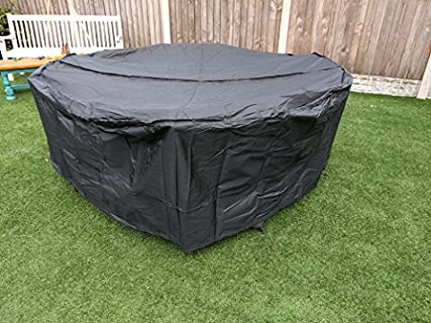 1.9m Garden Furniture Cover Breathable Quality Fitted Circular Elastic Table Round