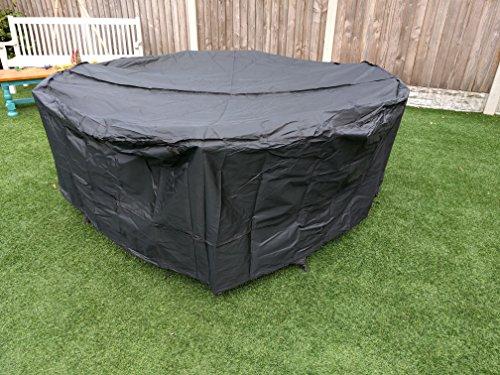 SpeedwellStar - Housse de protection ronde, élastique et respirante de qualité pour meubles de jardin,Circulaire Table Ronde 4-6 sièges, 1,9 m