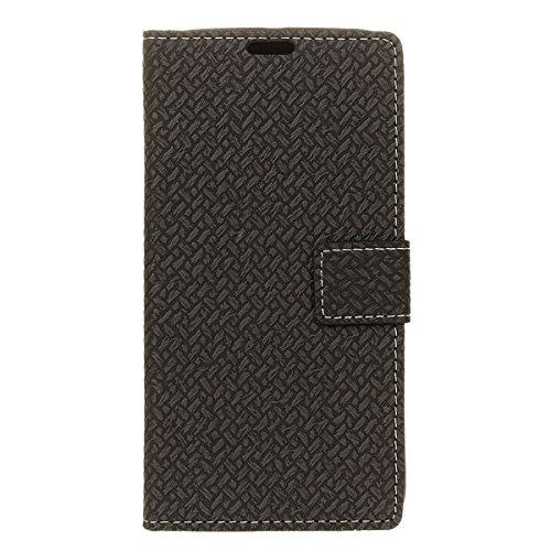 Sharp Aquos Ever SH-02J - Protector New Wallet Style Flip Cover Case for Sharp Aquos Ever SH-02J Only (Sharp Aquos Ever SH-02J Cover Black) - Aquos 42