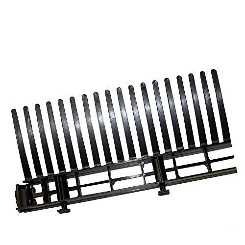 TRAUFELEMENT mit Kamm, 60 mm x 1,0 m, schwarz / Pck a 10 Stück