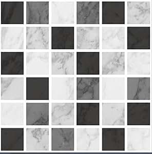 Piastrelle adesive mosaico effetto marmo per bagno o - Piastrelle adesive amazon ...