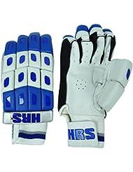 HRS Men`s PU Gants en cuir blanc Poids léger Cricket Protection Batting - 1 Paire