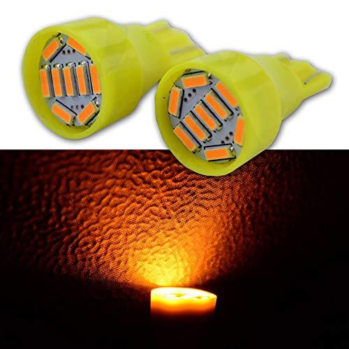 Ruiandsion Lot de 4 ampoules LED T15 912 921 DC 12 V 4014 9SMD Ambre super lumineux pour feu arrière arrière