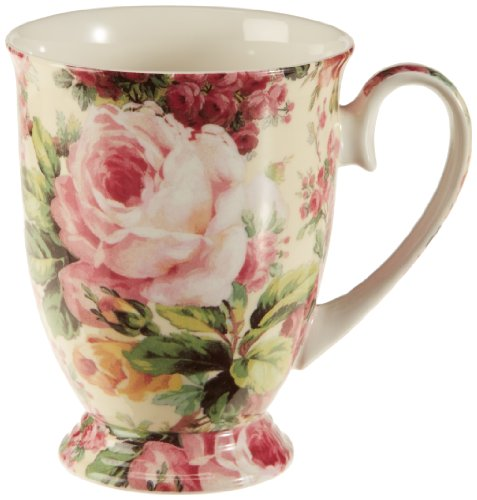Maxwell & Williams Royal Old England Kaffeebecher, Porzellan, Mehrfarbig, 11,5 x 8,5 x 10,5 Wild Roses Bone China