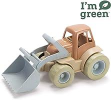 Dantoy Bio Juguete tractor cargador, juguetes ecológicos hechos de caña de azúcar