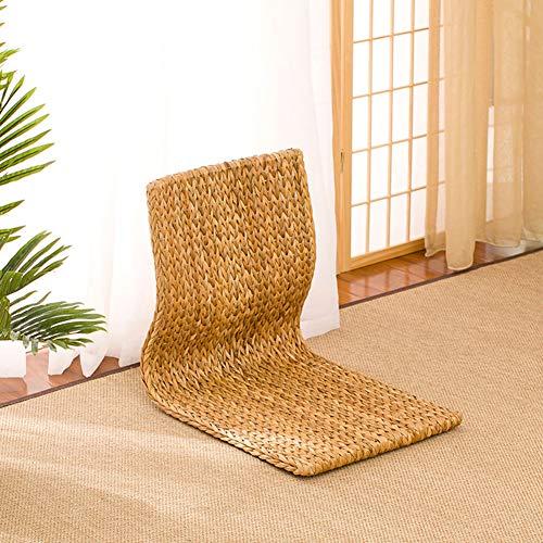 ker Stuhl Rattan Boden Kissen Falten Strand Stuhl, Bodenstuhl Tragbare Bucht Fenster Stuhl Chinesischen Stil-e 46x38x41cm(18x15x16inch) ()