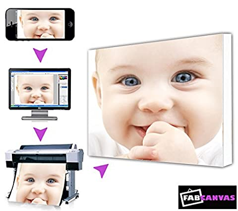 A1 32x24 Inch Large My/Your Image/Photo Printed To Canvas Frame Print