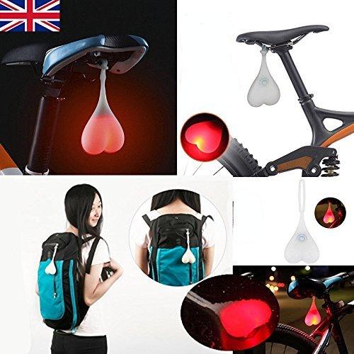 PlatiniumTech Bike Bälle Bike Rücklichter, 2018New (Fahrrad Lights) UK (Rot)