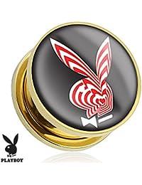 Playboy Adulto conejo Logo chapado en oro tornillo ajuste enchufe