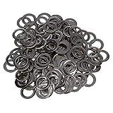 Deanyi 8mm Metallloch Grommets Oesen Rivet DIY runde Metallniete für Kleidung, Leder, Segeltuch 200Stk Silber Gebrauchsgegenstände