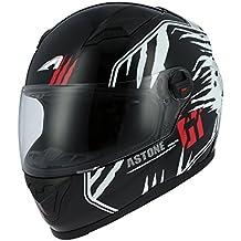 Astone Helmets gt2g-predator-bws casco Moto Integral GT, color negro/blanco, talla S