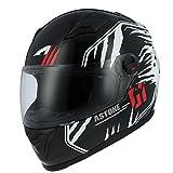 Astone Helmets gt2g-predator-bwm Motorradhelm GT, schwarz/weiß, Größe M
