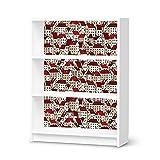 Möbelfolie selbstklebend für IKEA Billy Regal 3 Fächer | Poster Design Möbel-Aufkleber Folie | Inneneinrichtung stylen Moderne Deko | Design Motiv City By Day