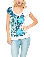 Desigual Cherain - T-shirt - Imprimé - Manches courtes - Femme