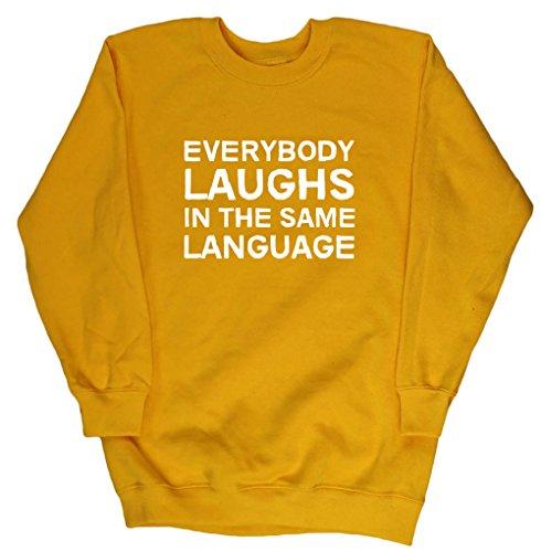 hippowarehouse-everybody-laughs-in-the-same-language-kids-unisex-jumper-sweatshirt-pullover