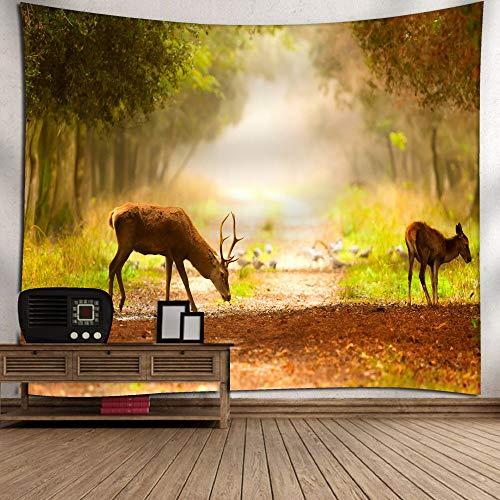 jtxqe Tapisserie d'impression numérique Deer/Mur Couverture/Serviette de Plage 2 150X130