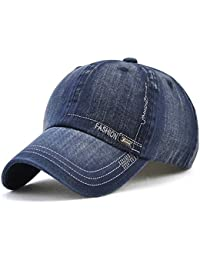 LAOWWO Unisex Hombres Mujeres Gorra de Béisbol Lavado Ajustable Denim  Classic Design Sport Leisure Cap Hat ce1c6587861