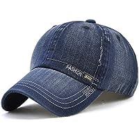 LAOWWO Unisex Hombres Mujeres Gorra de Béisbol Lavado Ajustable Denim Classic Design Sport Leisure Cap Hat 6 Colores